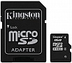Карта памяти 8GB Kingston MicroSDHC Class 4 + SD адаптер (SDC4/8GB)