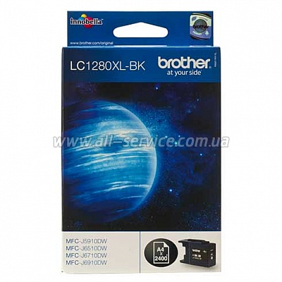 Картридж Brother MFC-J6510DW/ J6910DW XL black (LC1280XLBK)