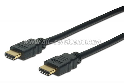 Кабель ASSMANN HDMI High speed + Ethernet AM/AM 10m, black (AK-330107-100-S)