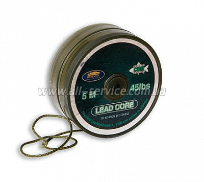 Шнур поводочный Lineaeffe PRO TEAM CARP  Lead Core  5м, 60lbs Made in Japan (3008660)