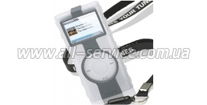 Чехол силиконовый GEAR4 JumpSuit Grip for iPod nano (old) ice&gray (PG91)
