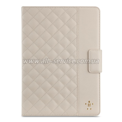 Чехол iPad Air Belkin Quilted Cover (Cream/бежевый) (F7N073B2C01)