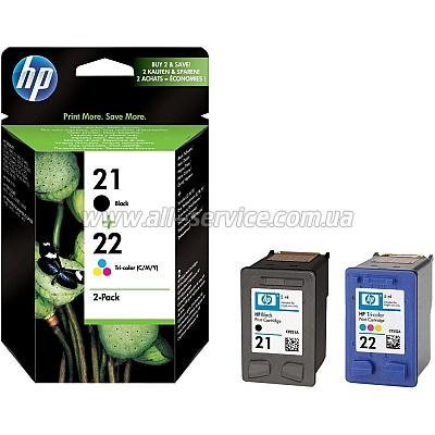 Картридж HP № 21/ 22 Black/ Tri-color Combo Pack (SD367AE)