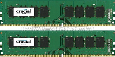 Память 8GBx2  Micron Crucial DDR4 2400Mhz KIT, Retail (CT2K8G4DFS824A)