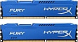 Память 4Gbx2 KINGSTON HyperX OC KIT DDR3, 1600Mhz CL10 Fury Blue (HX316C10FK2/8)