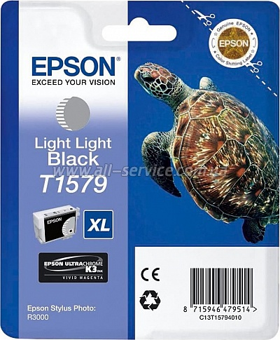 Картридж Epson StPhoto R3000 Light Light Black (C13T15794010)