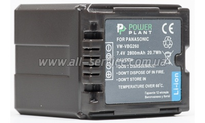 Аккумулятор PowerPlant Panasonic VW-VBG260 Chip (DV00DV1276)