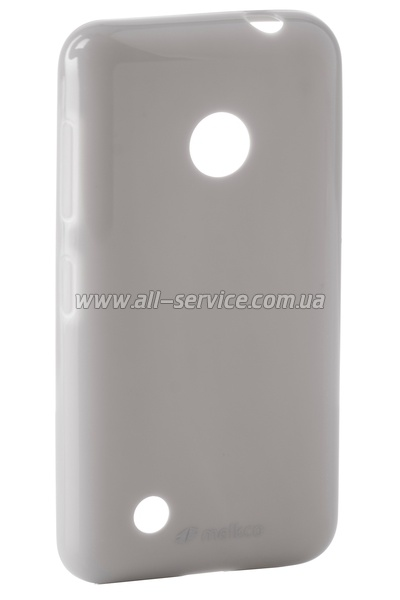 Чехол MELKCO Nokia Lumia 530 Poly Jacket TPU Gray