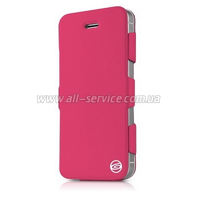 Чехол ITSKINS Plume Artificial for iPhone 5/5S/SE Pink (APH5-PLUME-PINK)