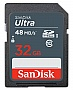 Карта памяти 32GB SanDisk Ultra SDHC Class 10 UHS-I (SDSDUNB-032G-GN3IN)