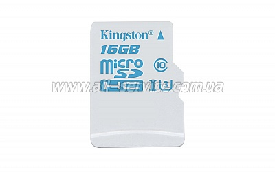 Карта памяти 16GB Kingston microSDHC C10 UHS-I U3 Action (SDCAC/16GBSP)