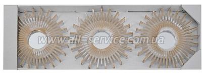 Зеркало EVG BIN 1124364 ANTIС GOLD set 3