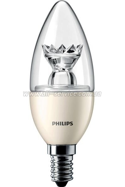 Лампа светодиодная Philips LEDcandle D E14 6-40W 827 B39 CL Master (929000271802)