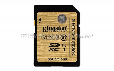 Карта памяти 512GB Kingston Ultimate SDXC Class 10 UHS-I (SDA10/512GB)
