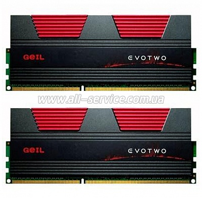 Память DDR3 4Gb PC17000/2133 (2x2GB) CL10 Geil EVO TWO (GET34GB2133C10ADC)