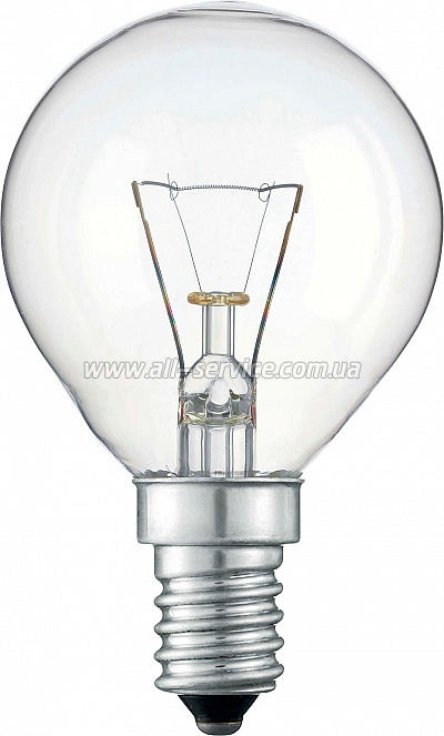 Лампа накаливания Philips E14 40W 230V P45 CL 1CT/10X10F Stan