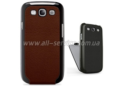 Чехол Galaxy S3 Belkin Snap Folio коричневый (F8M397cwC01)