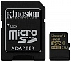 Карта памяти 16Gb KINGSTON microSDHC Class 10 UHS-I + SD адаптер (SDCA10/16GB)
