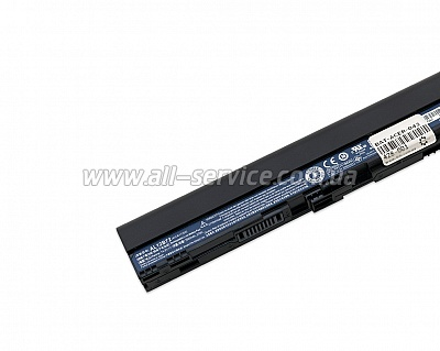 Батарея для ноутбука ACER Aspire V5-121 V5-123 V5-131 V5-171, Aspire One 725 756, TravelMate B113 / Gateway One ZX4260  / 14,4V 2500mAh (37Wh) BLACK ORIG (AL12B72)
