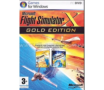 ПО Microsoft Flight Sim X-Gold Win32 Russian DVD Case DVD (EGC-00057)