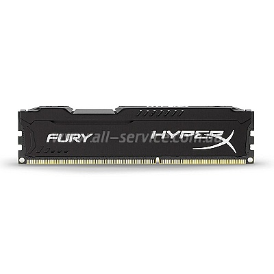 Память 4Gb KINGSTON HyperX OC DDR3, 1600Mhz CL10 Fury Black Retail (HX316C10FB/4)