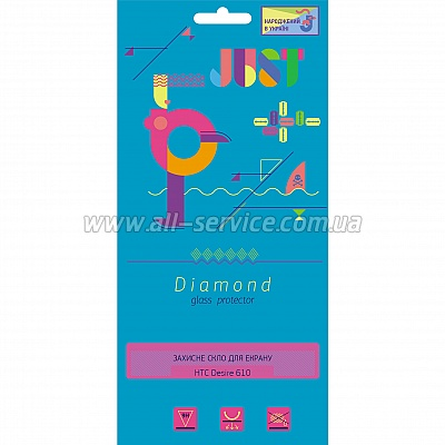 �������� ������ JUST Diamond Glass Protector 0.3mm for HTC Desire 610 (JST-DMD03-HTC610)
