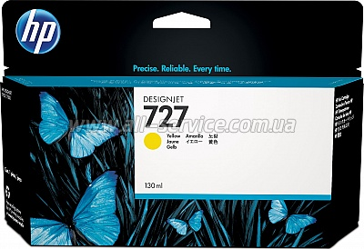 Картридж HP №727 DesignJet T1500/ T920 Yellow, 130 ml (B3P21A)
