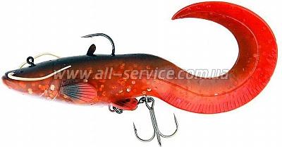 Виброхвост огруженный DAM Effzett Catfish Curl Tail 200мм 120гр (brown)(5818101)