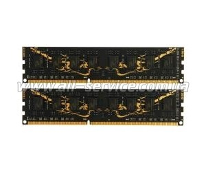 Память DDR3 8Gb PC12800/1600 (2x4GB) CL9 Geil Black Dragon (GB38GB1600C9DC)