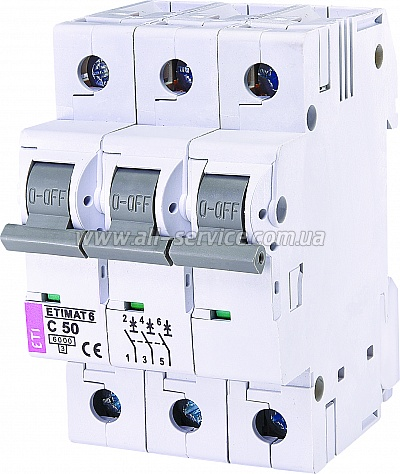 Автоматический выключательETIMAT 63p C 50А 6 kA (2145521)