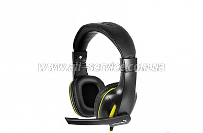 Наушники Gemix W-390 black-yellow Gaming
