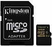 Карта памяти 32Gb KINGSTON microSDHC Class 10 UHS-I + SD адаптер (SDCA10/32GB)