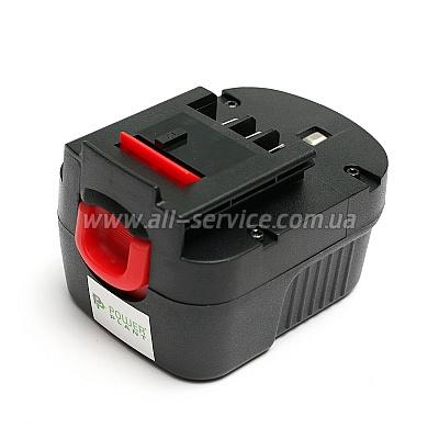 Аккумулятор PowerPlant для BLACK&DECKER GD-BD-12B 12V 2Ah NICD (DV00PT0025)
