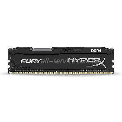 Память 4Gb KINGSTON HyperX OC DDR4 2133Mhz CL14 Fury Black (HX421C14FB/4)