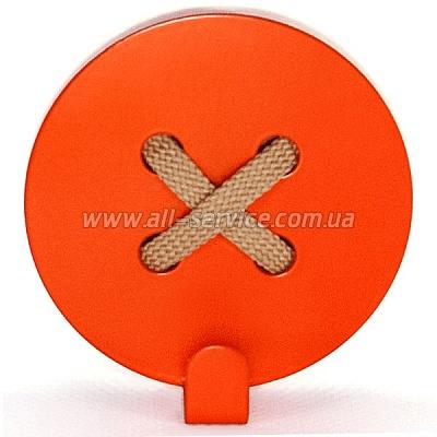 Вешалка настенная Glozis Button Orange (H-025)
