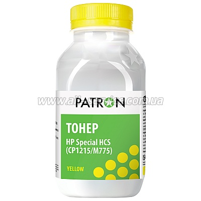 ТОНЕР PATRON HP CP1215 /M775 (HCS) YELLOW ФЛАКОН 50 г (T-PN-HCS-Y-050)