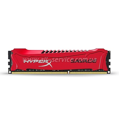 Память 8Gb KINGSTON HyperX OC DDR3, 1866Mhz CL9 Savage Red (HX318C9SR/8)