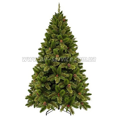 Искусственная ель Triumph Tree Edelman Dewberry, зеленая с декоративными шишками и ягодами ежевики 2.60 м