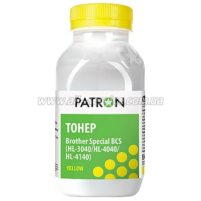 ТОНЕР PATRON BROTHER HL-3040 /HL-4040 /HL-4140 YELLOW (BCS) ФЛАКОН 50 г (T-PN-BCS-Y-050)