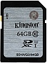 Карта памяти 64GB Kingston SDHC Class 10 UHS-I (SD10VG2/64GB)