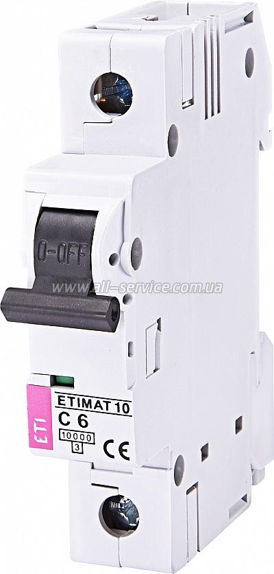 Автоматический выключатель ETIMAT 10 1p C 40А 10 kA (2131712)