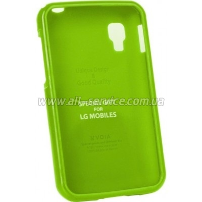 Чехол VOIA LG Optimus L4II Dual - Jelly Case (Lime)