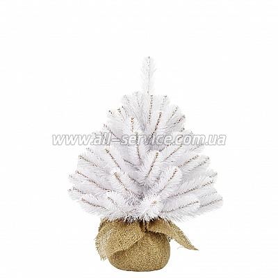 Искусственная ель Triumph Tree Edelman Rainer, белая 0.45 м