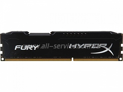 Память 8Gb KINGSTON HyperX OC DDR3, 1600Mhz CL10 Fury Black Retail (HX316C10FB/8)