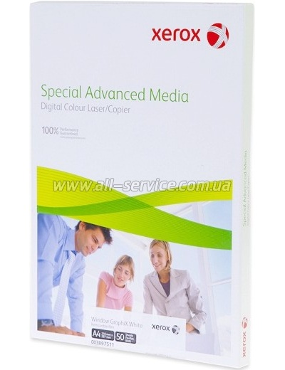 Пленка белая Xerox Laser Window GraphiX (gloss) A4 50л. (007R91570)