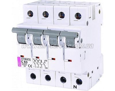 Автоматический выключатель ETI ETIMAT 6 3p+N C 63А 6 kA (2146522)