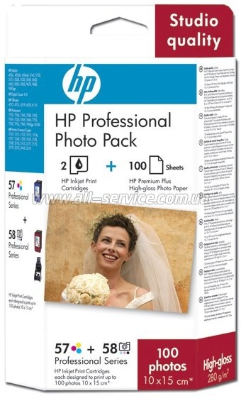 Комплект HP №57/ 58: картридж C6657AE+картридж C6658AE + Premium Plus Photo Paper 10x15 100л Q7954AE