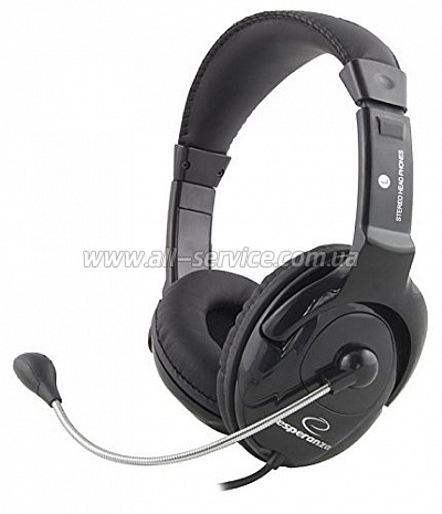 Гарнитура Esperanza Headset EH101 Black