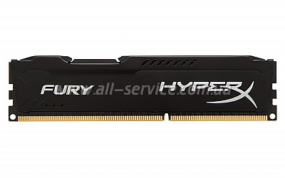 Память 8Gbx2 KINGSTON HyperX OC KIT DDR3, 1600Mhz CL10 Fury Black (HX316C10FBK2/16)