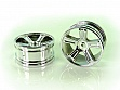 23626V 1:18 Chrome Rims 2P